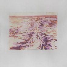 """Sahar Kheitan, untitled, from """"High Seas"""" series, acrylic on cardboard, 16 x 20.5 cm, frame size: 36.5 x 32.5 cm, 2017"""