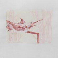 """Sahar Kheitan, untitled, from """"High Seas"""" series, acrylic on cardboard, 16 x 22.5 cm, frame size: 36.5 x 32.5 cm, 2016"""