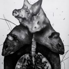 """Sara Abbasian, untitled, from """"Cluster 5"""" series, pencil on paper, 93 x 70 cm, 2021"""