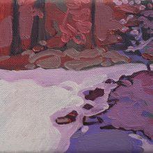 """Sourena Zamani, """"Milky River"""", Oil on Canvas, 13 x 18 cm, 2014"""