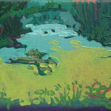 "Sourena Zamani, ""Corridor on The River"", Oil on Canvas, 13 x 18 cm, 2014"