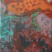 "Sourena Zamani, ""Dark Side of The Hill"", Oil on Canvas, 13 x 18 cm, 2014"