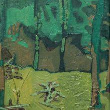 "Sourena Zamani, ""Gaurdians Are Performing Their Ritual"", Oil on Canvas, 24 x 18 cm, 2014"