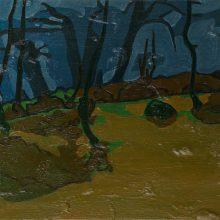 "Sourena Zamani, ""Grassy Knoll"", Oil on Canvas, 25 x 35 cm, 2015"