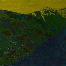 """Sourena Zamani, """"Siallan Mountain Range"""", Oil on Canvas, 25 x 35 cm, 2015"""
