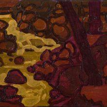 "Sourena Zamani, ""Tributary behind the Fish Farm II"", Oil on Canvas, 13 x 18 cm, 2015"