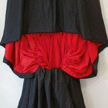 "Ursula Neugebaur, ""Tschador"" Series, 7 Chador, Black Textile with Red lining, (detail), 290 x 125 cm, 2007"