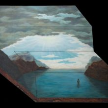 "Amirhossein Bayani, ""K.D."", from ""Fidelity; Names of Politics"" series, oil on board, 114 x 148 cm, 2017"