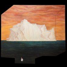 "Amirhossein Bayani, ""S.S."", from ""Fidelity; Names of Politics"" series, oil on board, 137 x 150 cm, 2017"