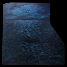 "Amirhossein Bayani, ""V.S."", from ""Fidelity; Names of Politics"" series, oil on board, 147.5 x 148 cm, 2019"