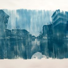 "Mehdi Khandan, Untitled, from ""Like No Other"" series, cyanotype printing on fabriano cardboard, unique edition, 70 x 90 cm, 2019"