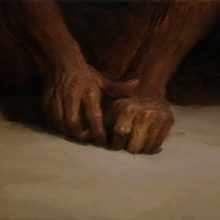 "Hosein Mohamadi, ""Nocturnal Hands"", from ""Rupture"" series, oil on canvas, 30 x 50 cm, 2020"