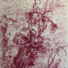 """Neda Ghayouri Moteasseb, untitled, from """"The Remains"""" series, monotype, 47 x 32 cm, frame size: 62 x 47.5 cm, 2020"""