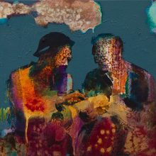 "Amir-Hossein Zanjani, ""Airdrop"", 40 x 50 cm, oil on canvas, 2020"