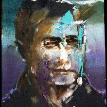 "Amir-Hossein Zanjani, untitled, from ""Portrait"" series, oil on canvas, 30 x 25.5 cm, 2019"