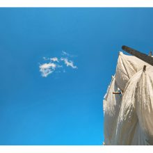 "Alireza Fani, untitled, from ""Twelve Blue Squares"" series, archival print, 14 x 20 cm, 2016"