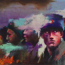 "Amir-Hossein Zanjani, ""Russian Boys"", from ""Marching"" series, oil on canvas, 70 x 100 cm, 2017"