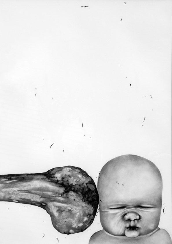 Untitled / 2014 Pencil on Cardboard 70 X 50 Cm
