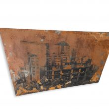 """Omid Mehdizadeh, untitled, from """"Hideousness"""" series, mixed media on iron, unique edition, 97.5 x 43.5 x 70 x 56.5 x 2.2 cm, 2019"""