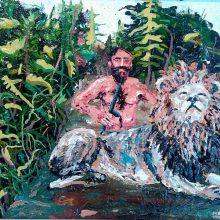 "Mahmoudreza Zandpour, From ""Called Again"" Series, Acrylic on Canvas, 30 x 40 cm, 2016"