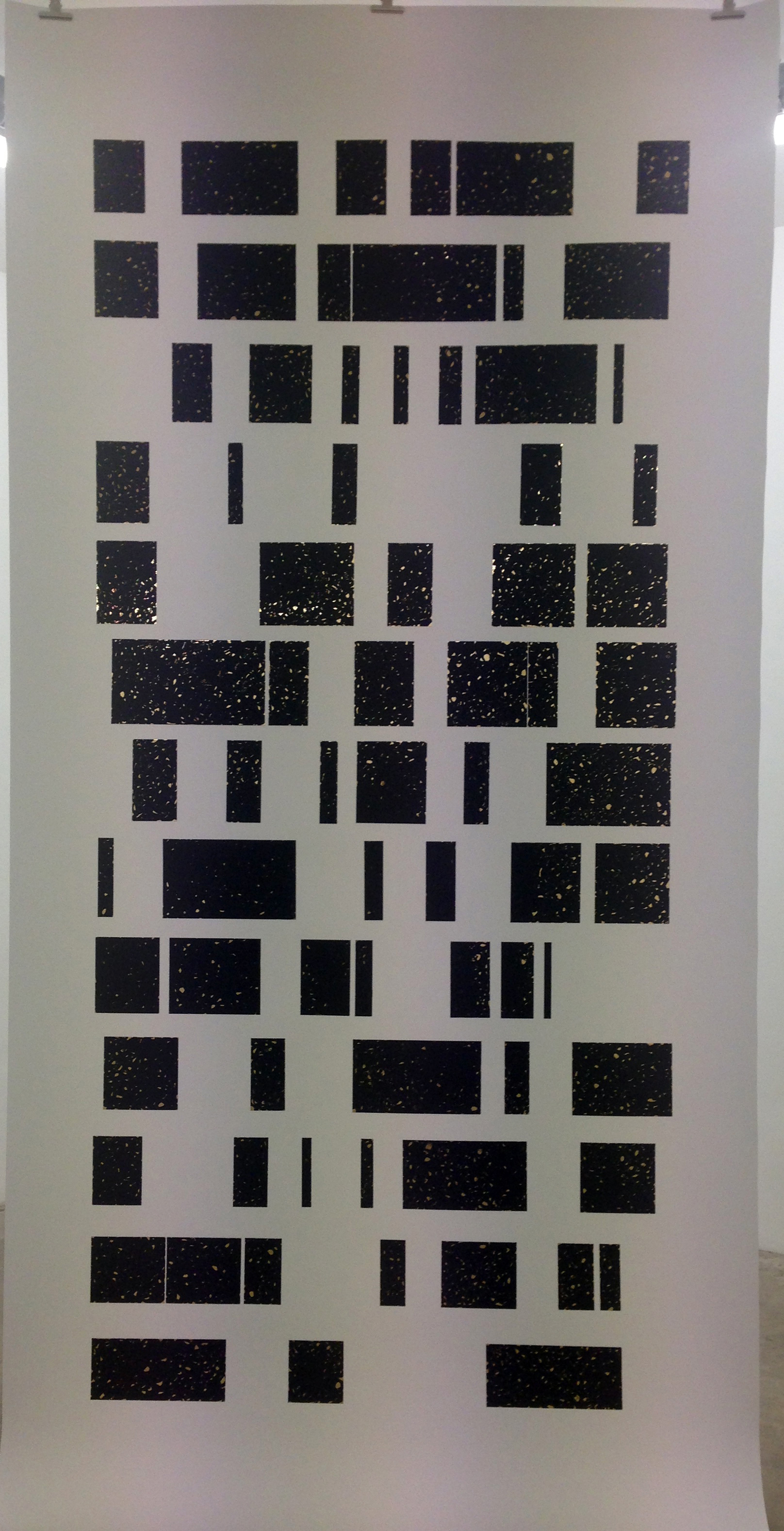 300 X 150 CM Permanent Marker and Adhesive Foil on Paper