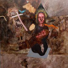 Seyed Mohamad Mosavat, untitled, mixed media, 140 x 120 cm, 2010-2011