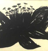 "Nahid Behboodian, Untitled From ""Sepulcher"" series, Ink on Cardboard, 55 x 37 cm, 2017"