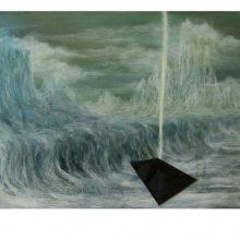 Milad Jahangiri, Untitled, Mixed Media on Cardboard, 61 x 39 cm, 2016