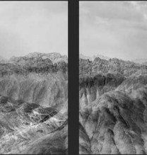 """Mehdi Abdolkarimi, from """"Among Highways"""" series, Full HD looping video, parallel screen, aspect ratio 16:9, edition of 3 + AP, 2015"""