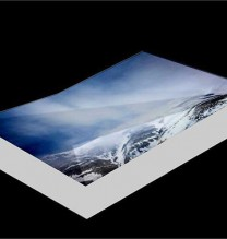 """Mehdi Abdolkarimi, from """"Among Highways"""" series, pigmented inkjet print on Hahnemühle photo rag paper 305 gsm, fragmented geographic mount, 12 x 8 x 2 cm, edition of 7 + AP, 2015"""