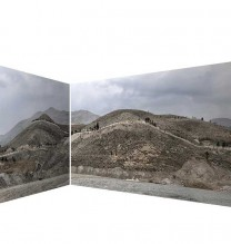 """Mehdi Abdolkarimi, from """"Among Highways"""" series, pigmented inkjet print on Hahnemühle photo rag paper 305 gsm, two sided, 110 x 146 cm and 110 x 216 cm, edition of 3 + AP, 2015"""