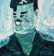 Saddam Hussein | 21 x 18 cm | Oil on Canvas