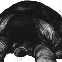"Sara Abbasian, untitled, from ""Imperishable Gravity"" series, pencil on cardboard, 35 x 50 cm, 2016"