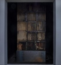 Majid Biglri's site specific Installation| plywood, wood, Plexiglas, glass, iron, water 2017| Courtesy of the artist and Mohsen Gallery